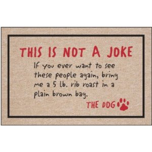 Dog Joke Doormat