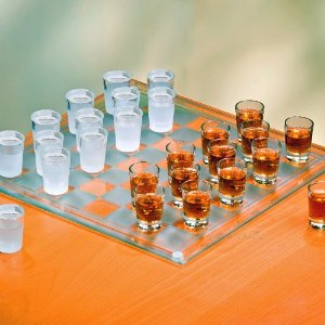 Checkers Shot Glasses