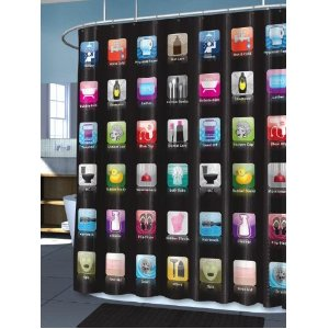 iOS Apps Shower Curtain