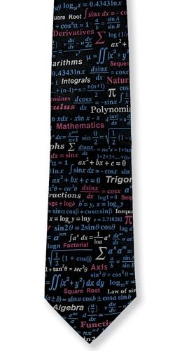 Mathematical Equations Silk Tie